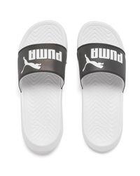 PUMA White Popcat Swan Slide Sandals