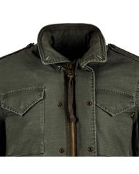 Alpha Industries - Green M-65 Defender W W/out Buttons for Men - Lyst