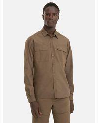 ALPHATAURI Baumwollhemd im Utility-Look in Natural für Herren