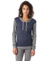 Alternative Apparel   Blue Classic Eco-jersey Pullover Hoodie   Lyst