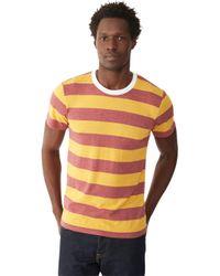 Alternative Apparel | Purple Ugly Striped Crew T-shirt for Men | Lyst
