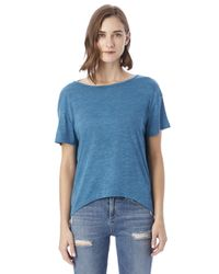 Alternative Apparel - Blue Pony Melange Burnout T-shirt W/ Back Strap - Lyst