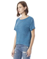 Alternative Apparel - Blue Pony Melange Burnout T-shirt W/ Back Strap - Lyst
