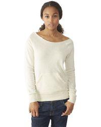 Alternative Apparel | Natural Maniac Eco-fleece Sweatshirt | Lyst