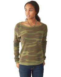 Alternative Apparel | Green Dash Printed Eco-fleece Sweatshirt | Lyst