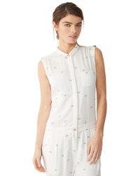 Alternative Apparel White Rayon Twill Jumpsuit