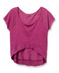 Alternative Apparel | Purple Let's Dance Eco-gauze Jersey Top | Lyst