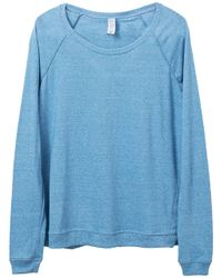 Alternative Apparel Blue Locker Room Eco-mock Twist Pullover