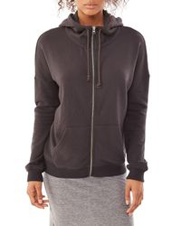 Alternative Apparel | Brown Organic Light French Terry Zip Hoodie | Lyst