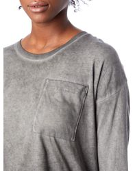 Alternative Apparel | Gray Element Wash High-waisted T-shirt | Lyst