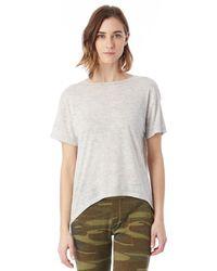 Alternative Apparel - Natural Pony Melange Burnout T-shirt W/ Back Strap - Lyst