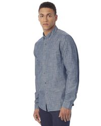 Alternative Apparel - Blue Industry Chambray Shirt for Men - Lyst