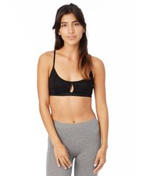 Alternative Apparel - Black Nytt Bralette With Front Opening - Lyst