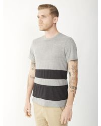 Alternative Apparel - Gray Basic Color-blocked Crew T-shirt for Men - Lyst
