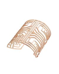 Amanda Wakeley | Pink Deco Rose Gold Square Bangle | Lyst