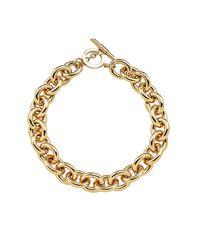 Amanda Wakeley   Metallic Chunky Gold Necklace   Lyst