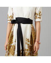 Amanda Wakeley - Multicolor Ecru Organza Cloque Jacquard Midi Dress - Lyst