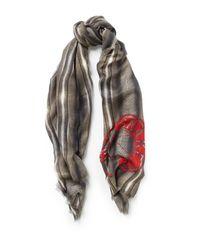 Amanda Wakeley | Gray Snake Natural Print Scarf | Lyst