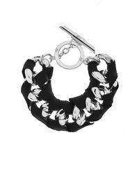 Amanda Wakeley - Metallic Chunky Silver Ribbon Bracelet - Lyst