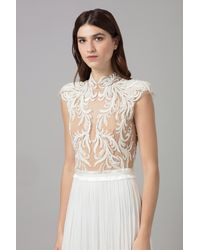 Amanda Wakeley - White Embellised Silk Tulle Dress - Lyst