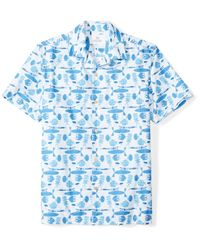 28 Palms Blue Standard-fit Tropical Hawaiian for men