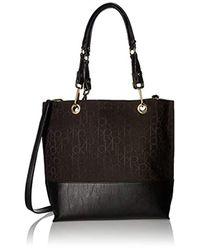 Calvin Klein Black Jacquard Tote Shoulder Bag