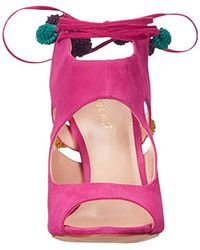 Nine West Pink Maya Suede Dress Sandal