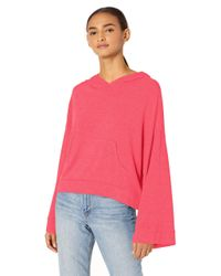 Cupcakes And Cashmere Pink Phoenix Brushed Knit Oversized Hoodie