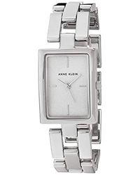 Anne Klein Metallic Quartz Metal And Alloy Dress Watch, Color:silver-toned (model: Ak/2639svsv)