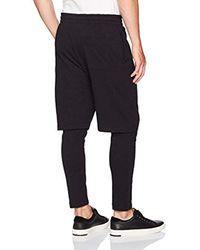 Vince Black Double Layer Lounge Pant for men