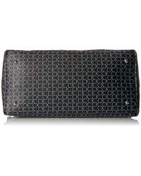 Calvin Klein Black Monogram Zip Satchel