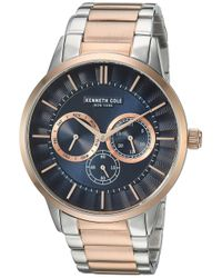 Kenneth Cole Blue Male Quartz Watch With Stainless Steel Strap for men