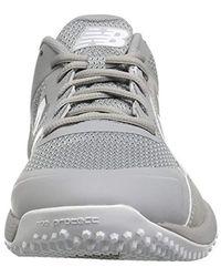 New Balance Gray 4040v4 Turf Baseball Shoe for men