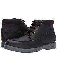 Clarks Black Vossen Mid Chukka Boot for men