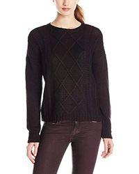 Buffalo David Bitton - Black Bullette Sequin Elbow Patch Pullover Sweater - Lyst