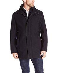 Calvin Klein Black Car Coat With Front-zip Bib for men