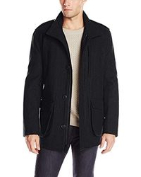 Marc New York Black Terry Wool-blend Field Coat for men