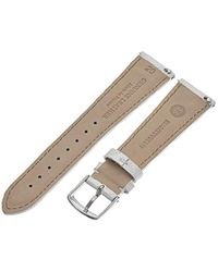 Michele Ms20ab370156 20mm Leather Calfskin White Watch Strap