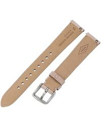 Fossil Multicolor S161015 White Leather 16mm Watch Strap