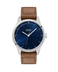 BOSS by Hugo Boss Hugo Dare Brown Leather Strap Watch for men