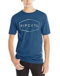 Rip Curl Blue Waxon Classics T-shirt for men