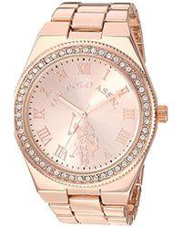 U.S. POLO ASSN. Metallic Analog-quartz Watch With Alloy Strap, Rose Gold, 8.5 (model: Usc40225)