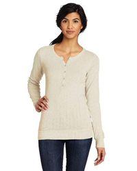 Woolrich Natural Shelby Long Sleeve Henley Shirt