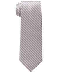 Double Thin Stripe Tie Tommy Hilfiger pour homme en coloris Gray