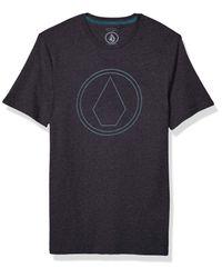 Volcom Black Pin Stone Modern Fit Short Sleeve Tee for men