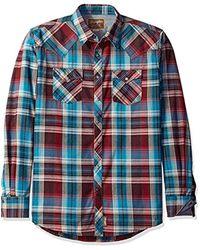 Wrangler Multicolor Size Tall Retro Long Sleeve Western Shirt for men