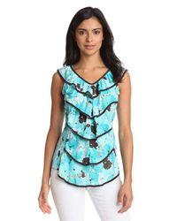 Wrangler Blue Fashion Sleeveless Shirt