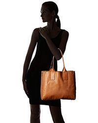 Frye Brown Ilana Tote Leather Handbag