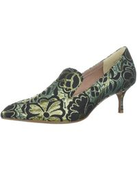 Kenneth Cole Green Shea Pointy-toe Kitten Heeled Loafer Pump