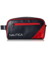 Nautica Red Top Zip Travel Kit Toiletry Bag Organizer for men